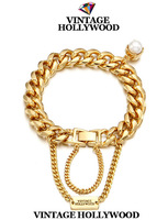 Free shipping 2013 christmas new Vintage hollywood chain tassel pearl pendant bracelet