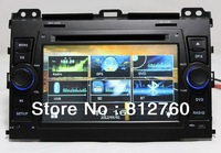 Wifi/3G Free shipping Car DVD player for Toyota Prado 120 with GPS Navigation,ipod TV bluetooth,Radio RDS,Russian menu,free map