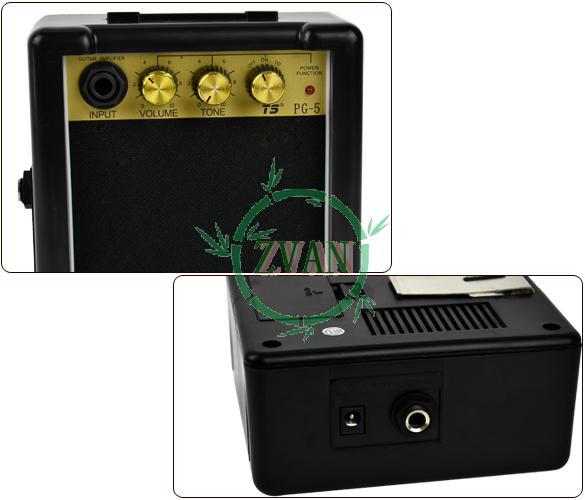 3PCS/LOT Drop Shipping Mini 5W 9V Electric Guitar Amp Amplifier 3.5 Inch Spe