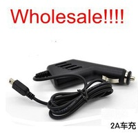 Long USB Car Charger Adapter Travel Charger for GPS or others mini USB 2A. Free Shipping