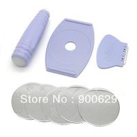 NEW Salon Express Professional Nail Art Stamp Stamping Scraper image pattern Polish DIY Design Kit Decoration
