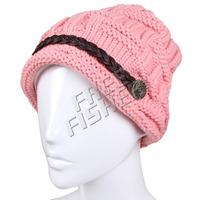 Women's Warm Knit Hat  Fashion Woolen Beanie Warm Colors
