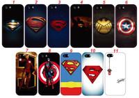 Exclusive Super Man Iron Man Captain America Plastic Case for iPhone 4 4S 5 5S Customized Case