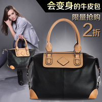 [GENUINE LEATHER]European American Big OL Commuter Bag Trendy Fashion Handbags Leisure Wild Shoulder Bag Briefcase Free Shipping