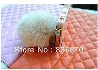 nEW Cute rabbit fur ball dust plug pearl rhinestone pompon general clinched fresh For Iphone & Ipad & Samsung& HTC,Wholesales