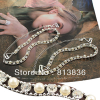 Free Shipping 2pairs/Lot imitated pearl and rhinestone crystal bra strap beaded shoulder straps body Intimates jewelry BB172-040
