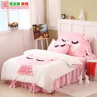 home textile beautiful thickening soft flannel cute bedding set twin queen  cartoon bedding set