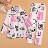 Short in size autumn and winter women 2013 women's coral fleece lounge set female sleepwear twinset c564