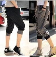 Free Shipping fashion brand design Men Drop Crotch Harem Trousers Hip Hop Baggy Sweat Pants Slack Jogging