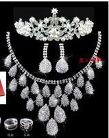 Free shipping Korean jewelry three-piece bridal wedding jewelry wedding crown