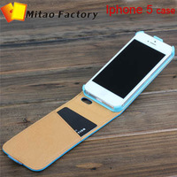 Holiday selling ! 100% genuine cow Leather case for iPhone 5 5s 5C Luxury Flip with Logos New Arrival Fashion Brand Designer
