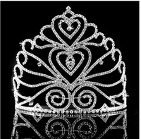 Silver Wedding Bridal Prom Rhinestone Crystal Princess Crown Tiara