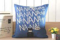 H417 Linen Cotton Movie Star Blue Batman NANA Decorative Cushion Cover Sofa Pillow Case Throw Pillow Cover Home Decor Boy Gift