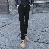 Vintage patchwork 2013 easy care fashion plus size slim casual pants velvet patchwork trousers