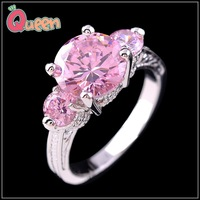 Sz6/7/8/9  Romantic Jewellery  pink sapphire  Lady's 10KT white   Gold Filled Ring