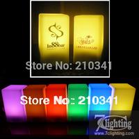 30units/Lot,Customized Logo LED Bar Cube Light 70x135x75mm,Rechargeable LED Cube Desk Lamp,LED Candle Light,LOGO Printed
