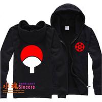 Naruto hoodie Autumn and winter outerwear sweatshirt male cardigan zipper  lovers thick fleece