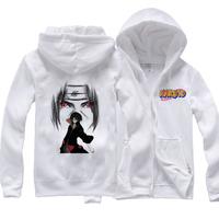 Naruto hoodie Kakashi skunks zipper-up fleece thickening sweatshirt