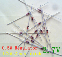 1/2W regulator 2.7V 0.5W Zener diode 20pcs/lot