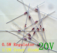 1/2W regulator 20V 0.5W Zener diode 200pcs/lot