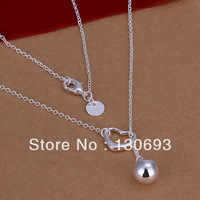 N164 Free Shipping Wholesale 925 Sterling Silver Necklace&Pendants Hung Love lob necklace - 18 ' Fashion Jewelry Christmas Gift
