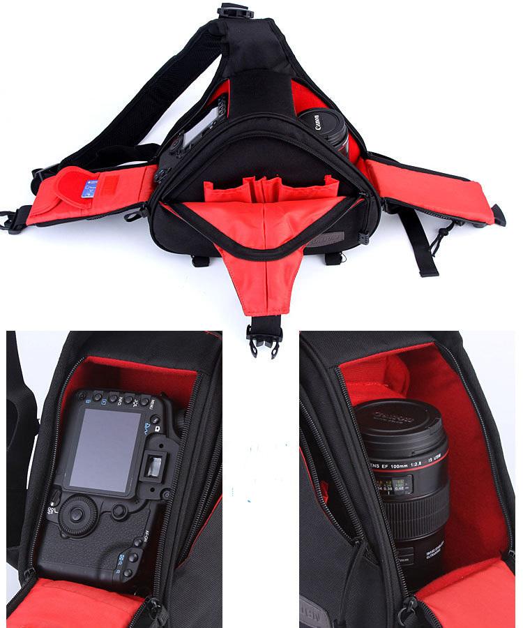 New Waterproof Fashion Casual DSLR Camera Bag Messenger Shoulder Bag For Canon Nikon D3200 D3100 D3000 Sony Free Shipping(China (Mainland))