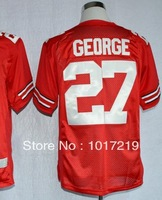 Wholesale Cheap Men's NCAA College Football Jerseys Ohio State Buckeyes # 27 Eddie George Jerseys,Embroidery Logos
