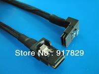 3FT Angled 90D Mini SAS 36Pin SFF 8087 To SFF 8087 Mini SAS 36Pin  Data Cable 1M