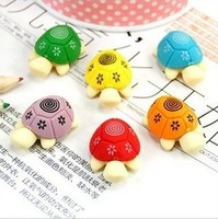 Blue Bai Stationery--Hot sale New style Korean cute Colorful little turtle shape eraser 295