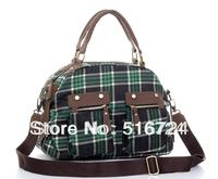 Women's handbag fashion grid cloth bag fashion vintage school bag handbag messenger bag big bag