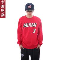 FREE SHIPPING Card 3 dwyane wade basketball cotton belt long-sleeve T-shirt male small sports sweatshirt  Justin bieber