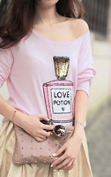 Wildfox 2013 perfume bottle paillette sweater hot-selling sweater