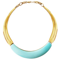 Crescent necklace, fashion quality  accessories candy color short design necklace
