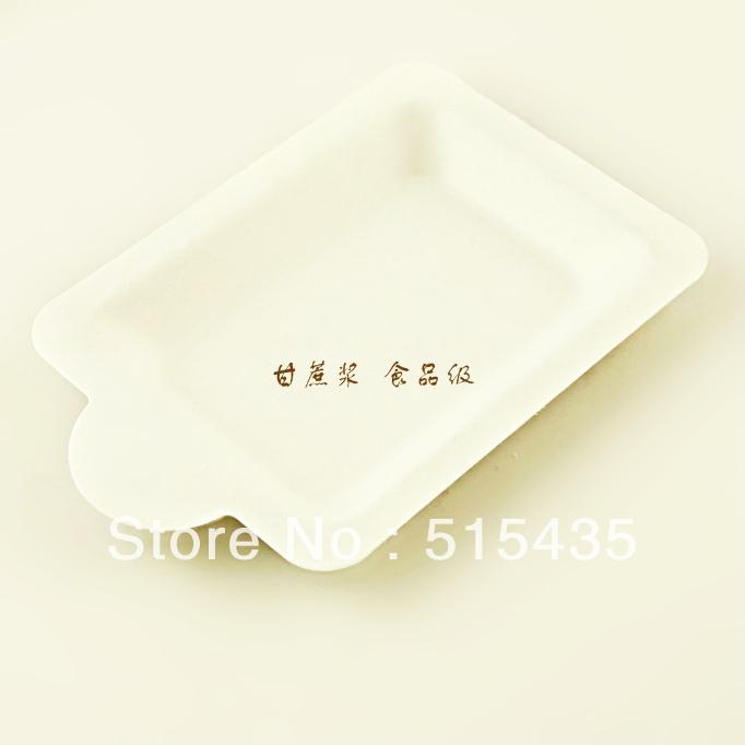 10pcs sugarcane paper plate, Environmental dish, biodegradable cake plate(China (Mainland))