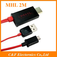 Micro USB to HDMI MHL Cable Adapter TV Converter HD 1080P For HDTV Mobile Phone Tablet + Freeshipping