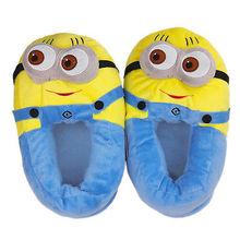 "Minion Jorge 11"" Shoe Plush Toy Doll Slippers One Size(China (Mainland))"