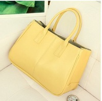 Free Shipping 2014 New Fashion Muti-Color Women Pu Leather Handbag Lady Trend Handbag