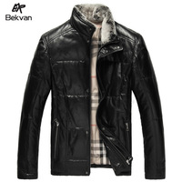 THOOO  top sheepskin rex rabbit hair short design male down genuine leather clothing 2087
