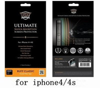 Shock Absorption (Front Screen + Back Cover) Protection Screen for iPhone4/4s BUFF Anti-shock film