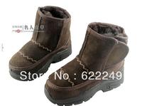 2013 Australia children 100 % genuine leather  true fur baby boots, warm  toddler shoes,winter soft bottom snow boots baby