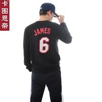 FREE SHIPPING Card basketball 6 cotton belt long-sleeve T-shirt long-sleeve male sports sweatshirt  Justin bieber