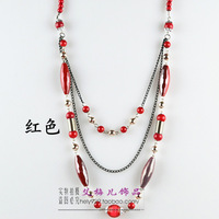 Fashion multi-layer necklace simulated-pearl quality gualian long decoration chain long necklace