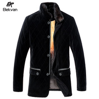 THOOO  high quality velvet gold liner male marten fur nick coat overcoat 2591