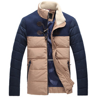 THOOO 2013 winter down coat outerwear male stand collar slim horn button down coat 2630 thermal