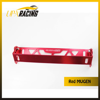 car universal aluminum RED mugen style adjustable rotating number plate auto License plate frame license plate holder