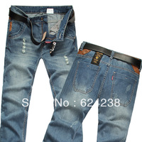Male jeans hole denim trousers straight jeans male y007-p 68