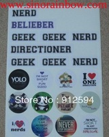 21 decals in one sheet A4 Car Decals Stickers