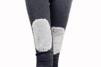 New arrival! 2013 women's all-match plus velvet thermal berber fleece patchwork legging female  free shipping