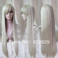 Harajuku Department Lolita  hot New Long 80cm Platinum-Blonde Cosplay Party Straight Wig