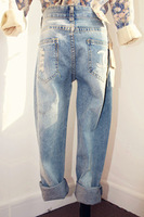 New arrival! 2013 autumn women's bf hole casual jeans  free shipping